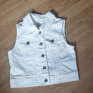 Cherokee white denim vest for girls size M